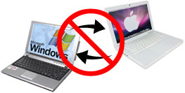 Avoid switching back and forth between working on a Mac and a PC.
